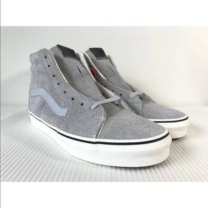 Vans Sk8-Hi Hairy Suede Gray Dawn Sneakers NWB